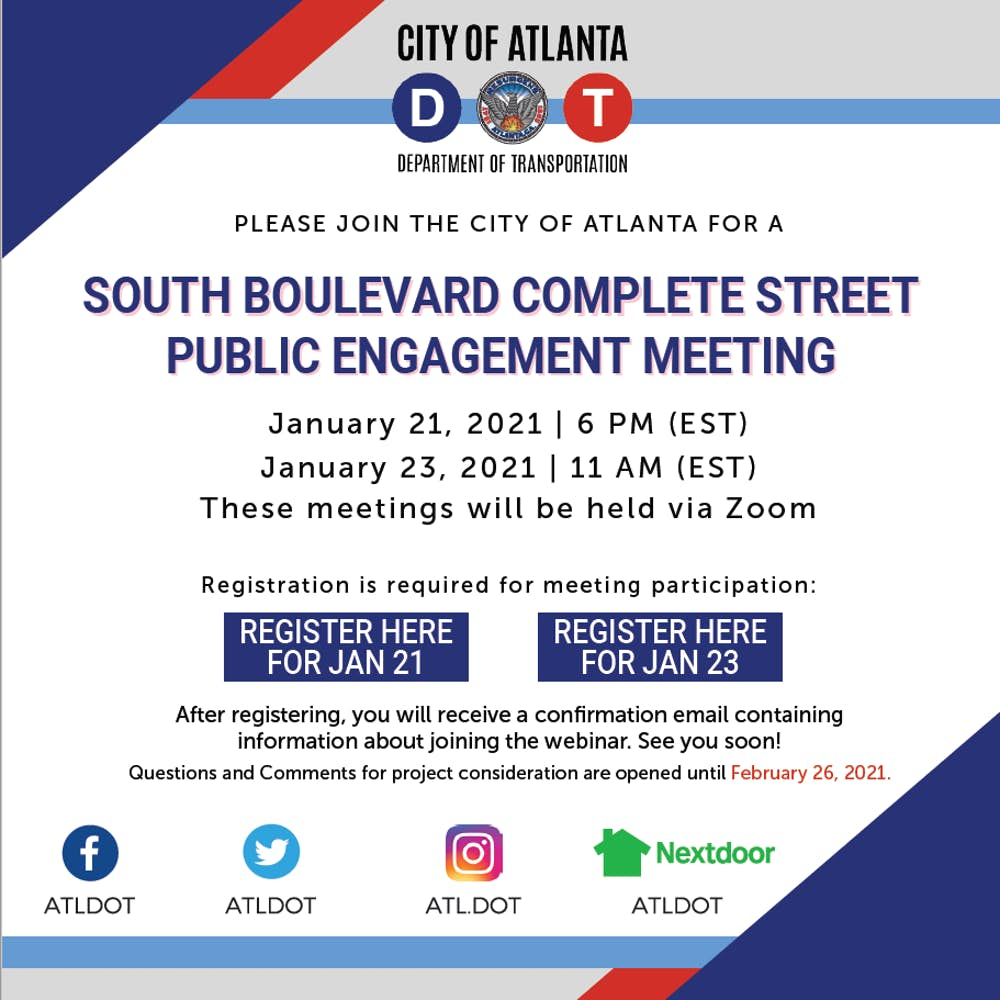 ICYMI: South Boulevard Complete Street Public Engagement Meeting